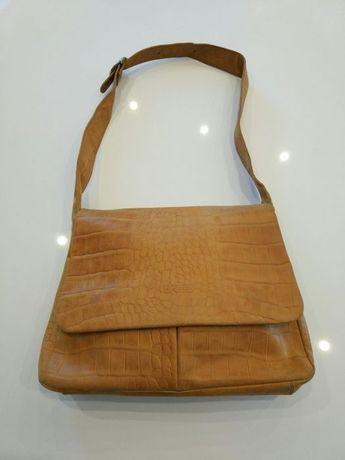 Skórzana karmelowa torba Bree - oryginalna