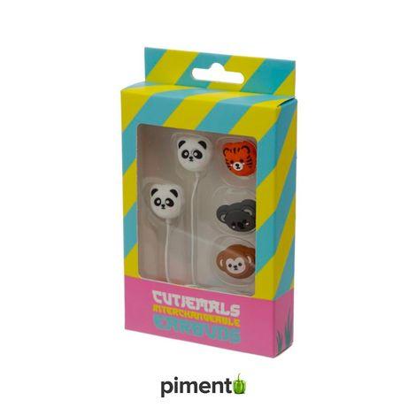 Auriculares Animais da Selva 4 em 1 – 3.5mm