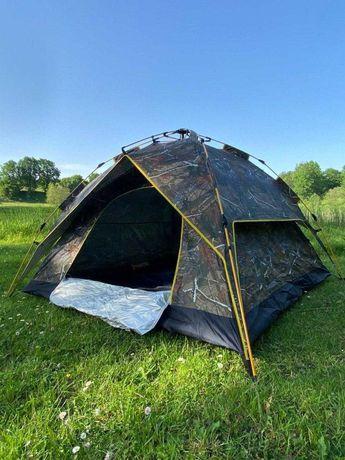 Новая двухслойная Палатка автомат. четырехместная, полусфера