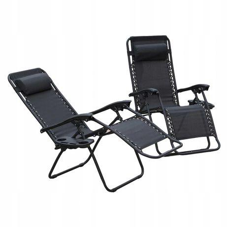 Кресло шезлонг лежак Zero Gravity до 120 кг труба 25мм