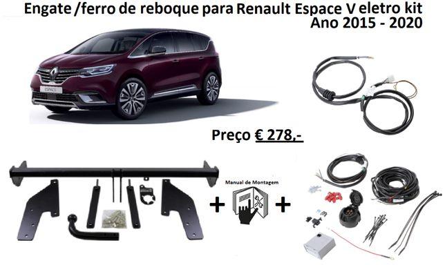 Renault espace V Gancho/Engate/ferro de Reboque + Kit eletrico de 7 p.
