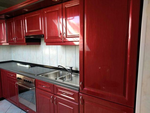 PIĘKNA,czerwona,LAKIEROWANA-wysoki połysk kuchnia z AGD,Meble kuchenne