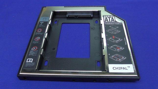 Карман для HDD или SSD вместо DVD. Optibay 9 и 12,7 мм 3.0 SATA