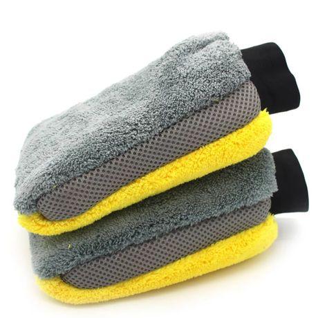 Автомобильная  рукавица фибра/лентяйка/ двухсторонняя