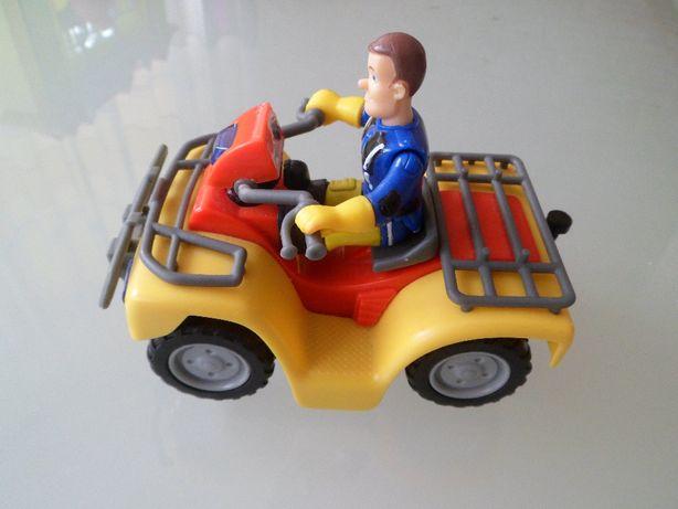 Pojazd , motor , quad z ludzikiem