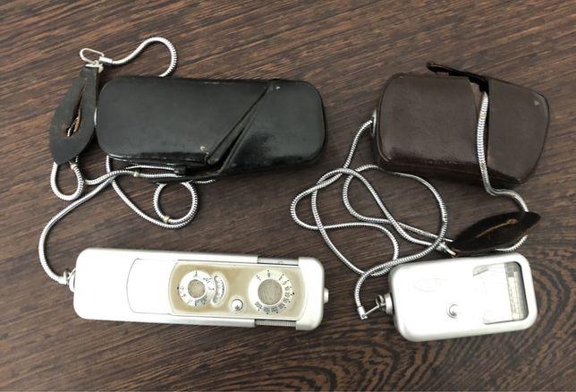 Maquina fotografica e medidor de luzvintage minox