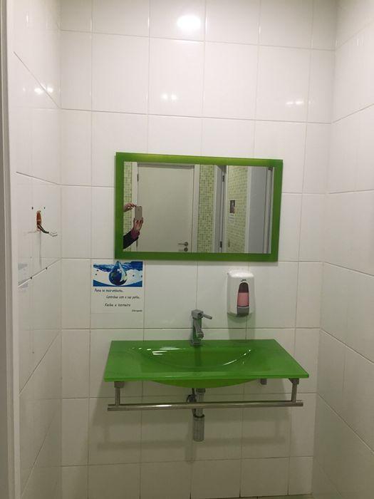 Lavatorio e espelho em vidro Lordelo - imagem 1