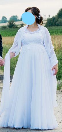 Suknia ślubna ciążowa (wzrost 165 cm +7 cm obcas)