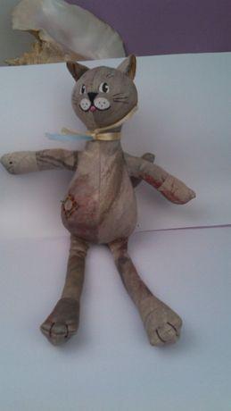 котик сувенірний ручна робота авторська зшитий з цупкої тканини