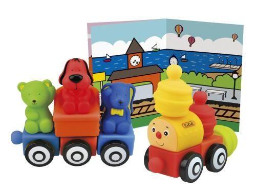 Pociąg klocki Popboblocks miękkie bezpieczne