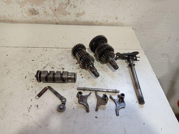 Komplet skrzynia biegów MZ ETZ 250 251 wodziki wałek krzywkowy silnik