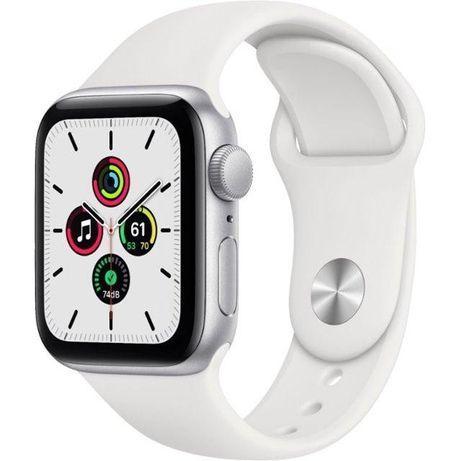 Apple Watch SE GPS 40/44 mm Silver Alum Case w White Sport Band