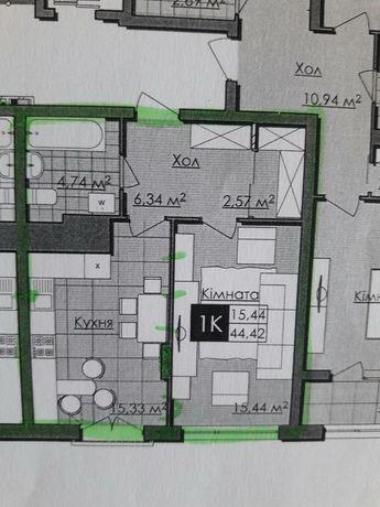 Продаж 1 кімн. квартири в новобудові вул. Малогосківська, переуступка