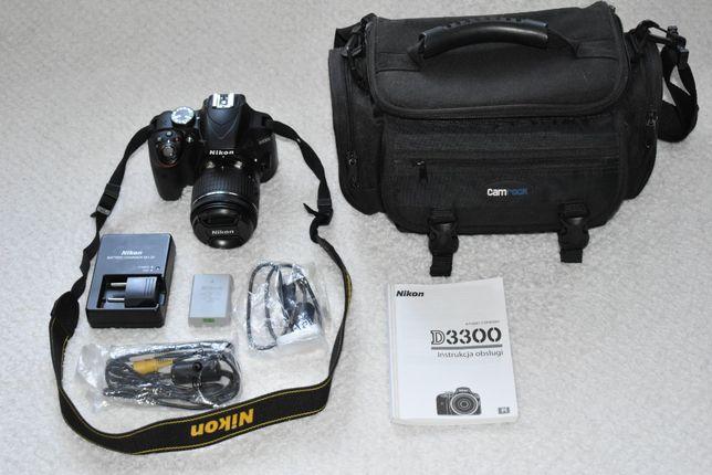 Lustrzanka NIKON D3300 + Obiektyw Nikkor 18-55mm + Torba i osprzęt
