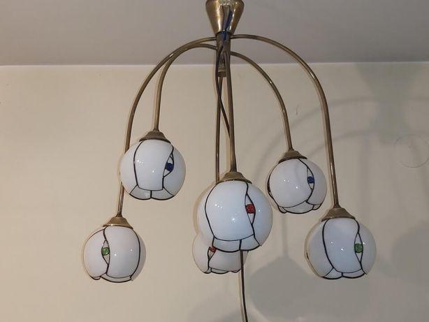Lampa wisząca 6 żarówek.