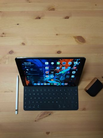 iPad Pro 10.5 + Teclado Apple  Apple Pencil  Capa Branca Oficial Apple