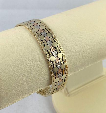 Piękna i masywna, elegancka ZŁOTA bransoletka PR. 333 (8K) dł. 19 cm