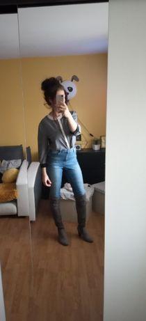 Szara koszula damska