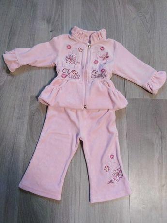 Komplet dres dla dziewczynki r. 80 różowy