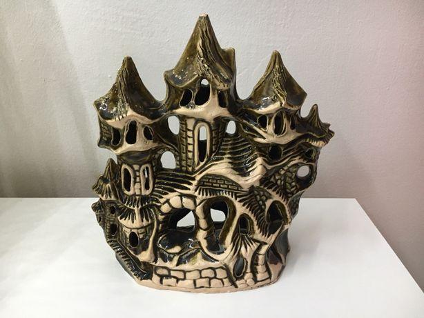 zamek ceramika ozdoba do akwarium