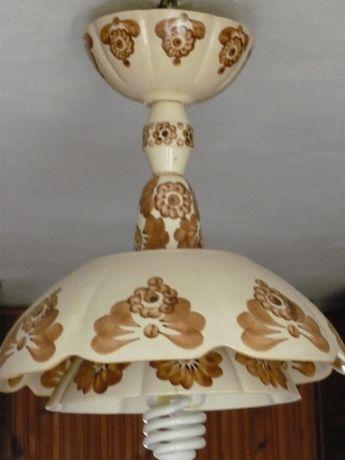 Fajans Włocławek - żyrandol brąz