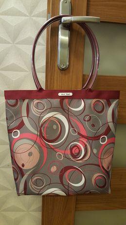 Torba torebka miejska shopperka Koła rękodzieło własnego projektu