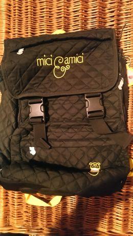 Plecak czarny pikowany