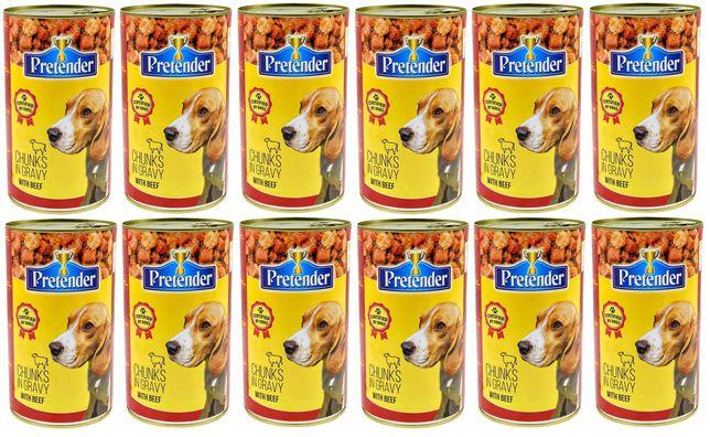 Karma 1250g PRETENDER 44%dla psa z wołowiną x12szt