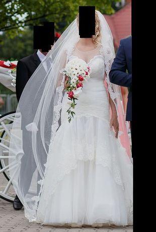 Śmietanowa Suknia Ślubna Syrena - salon Diana Rzeszów