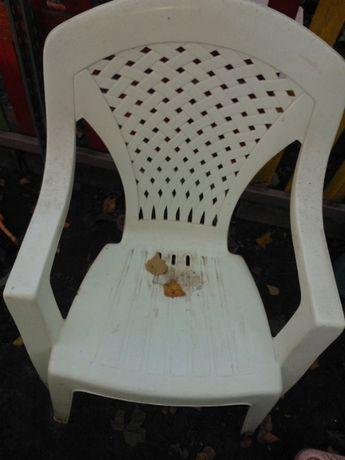 3 fotele ogrodowe białe