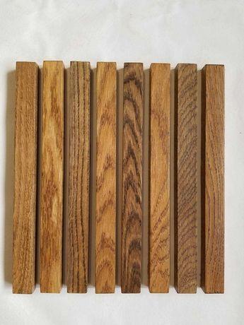 Рейки для декору стін та з цільної деревини.дуб,ясен.Ціна за 1м/п.