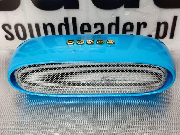 Głośnik bluetooth bezprzewodowy przenośny radio odtwarzacz niebieski