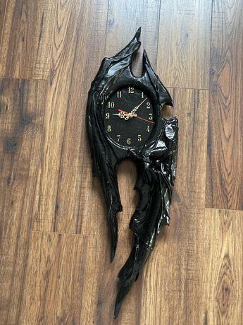 Zegar ścienny w skórze, skóra nowy