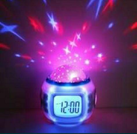 Уникальные музыкальные часы с проектором звёздного неба
