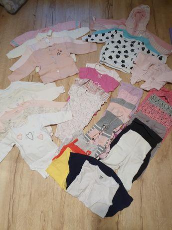 Zestaw (33 sztuki) ubranek dla dziewczynki w rozmiarze 74-80