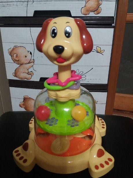 Розвиваюча іграшка - юла Собачка