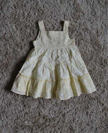 Sukienka letnia żółta r.80, 6 zł