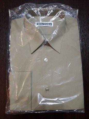 Nowa koszula wojskowa oficerska długi rękaw khaki 39/182 Wólczanka