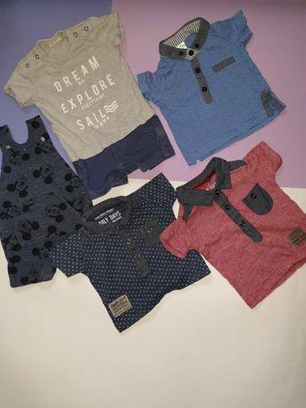 Пакет лётных вещей для мальчика 0-3 Песочник, футболка, комбинезон