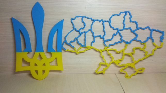 Герб, карта України