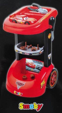 SMOBY Wózek warsztatowy z autkiem Disney Pixar Cars, wysyłka, NOWY