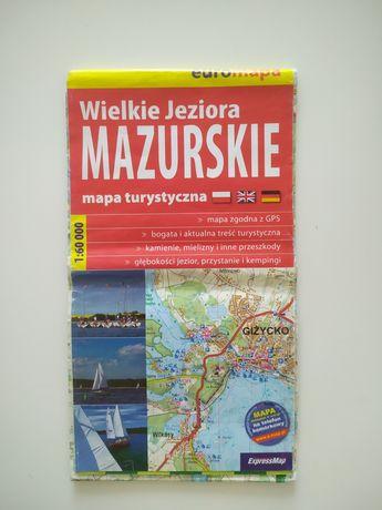 Mapa Wielkie Jeziora Mazurskie 1:60 000