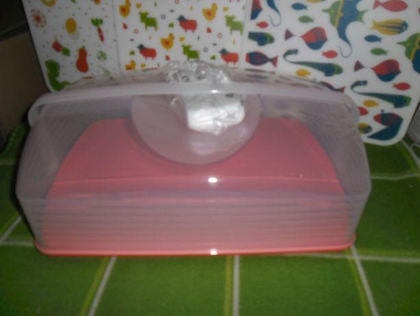 duży nowy pojemnik do ciasta na całą blachę z Tupperware-2kolory