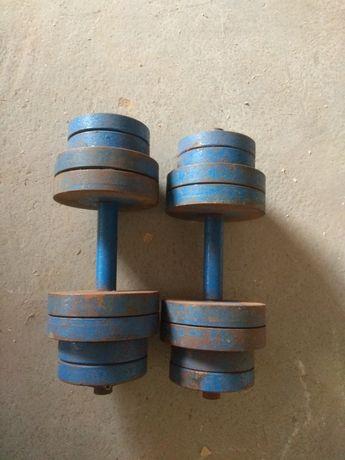 Hantle stalowe skręcane 2x30kg - hantle sztangielki