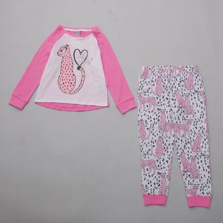 пижама для девочки домашняя одежда трикотажная флисовая Pepco 98-128