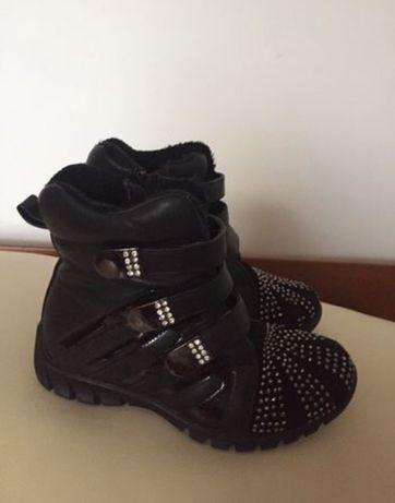 Ботинки на девочку кожа!!!  16 см