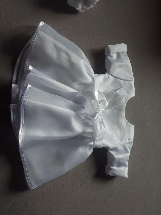 Piękny strój do chrztu, ubranko dla dziewczynki chrzest św. Chybie - image 1