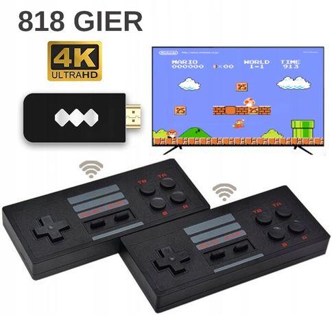 Konsola PEGASUS HDMI bezprzewodowy +818 gier 8 bit NOWA, Dzień Dziecka