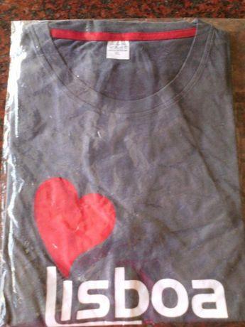 T-Shirt - Cinzenta - Lisboa - NOVA - Baratíssima