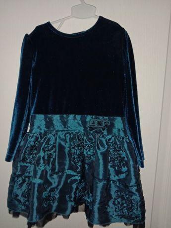 Нарядное пышное платье бархат